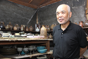 Masayoshi Shimizu in his workshop